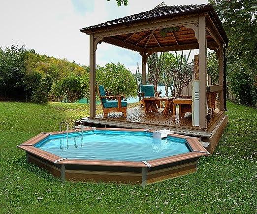 Piscina de madera water?clip 4,54x1,47m 20283: Amazon.es: Juguetes y juegos