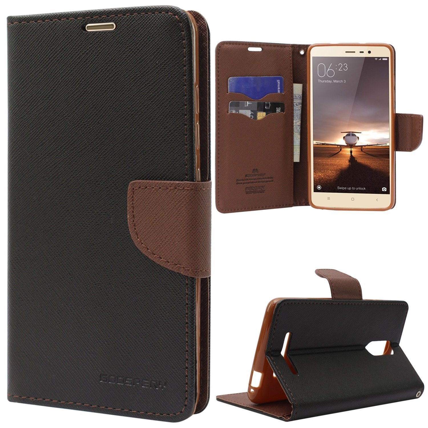 Online India Vivo Y51l Y51 Flip Cover Imported Goospery Iphone X Fancy Diary Case Black Brown Electronics