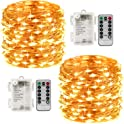 2-Pack LightsEtc 100 Led String Lights with Remote Control Timer