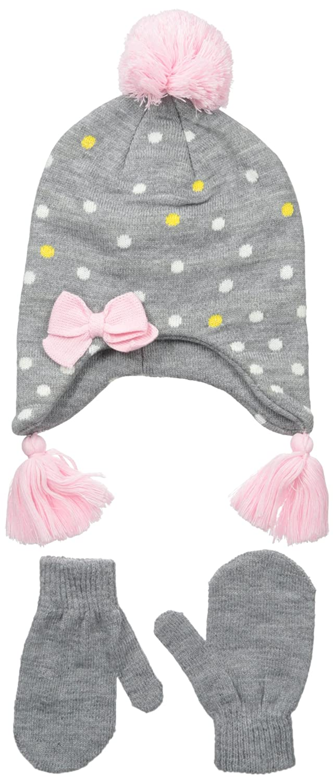 Nolan Gloves Big Girls Sunday Knit Polka Dot Set