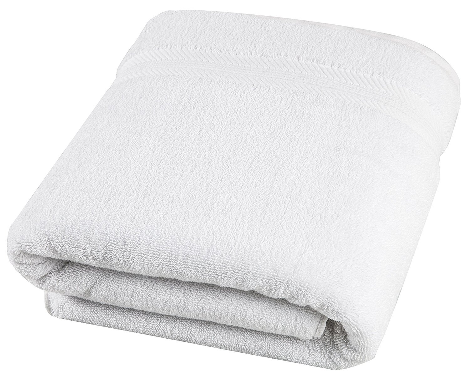 650 GSM Hotel and Spa Quality, 100% Ring Spun Genuine Cotton, Absorbent, Soft, Comfortable and Large (35x70 Inches) Bath Sheet for Home, Bathroom, Pool and Beach by MoonDeal, White
