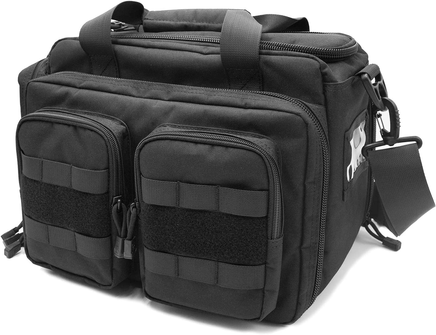 ProCase Tactical Gun Range Bag, Deluxe Pistol Shooting Range Duffle Bag Large Handguns Magazine Ammo Gear Accessories Pouch for Hunting Shooting Range Sport -Black