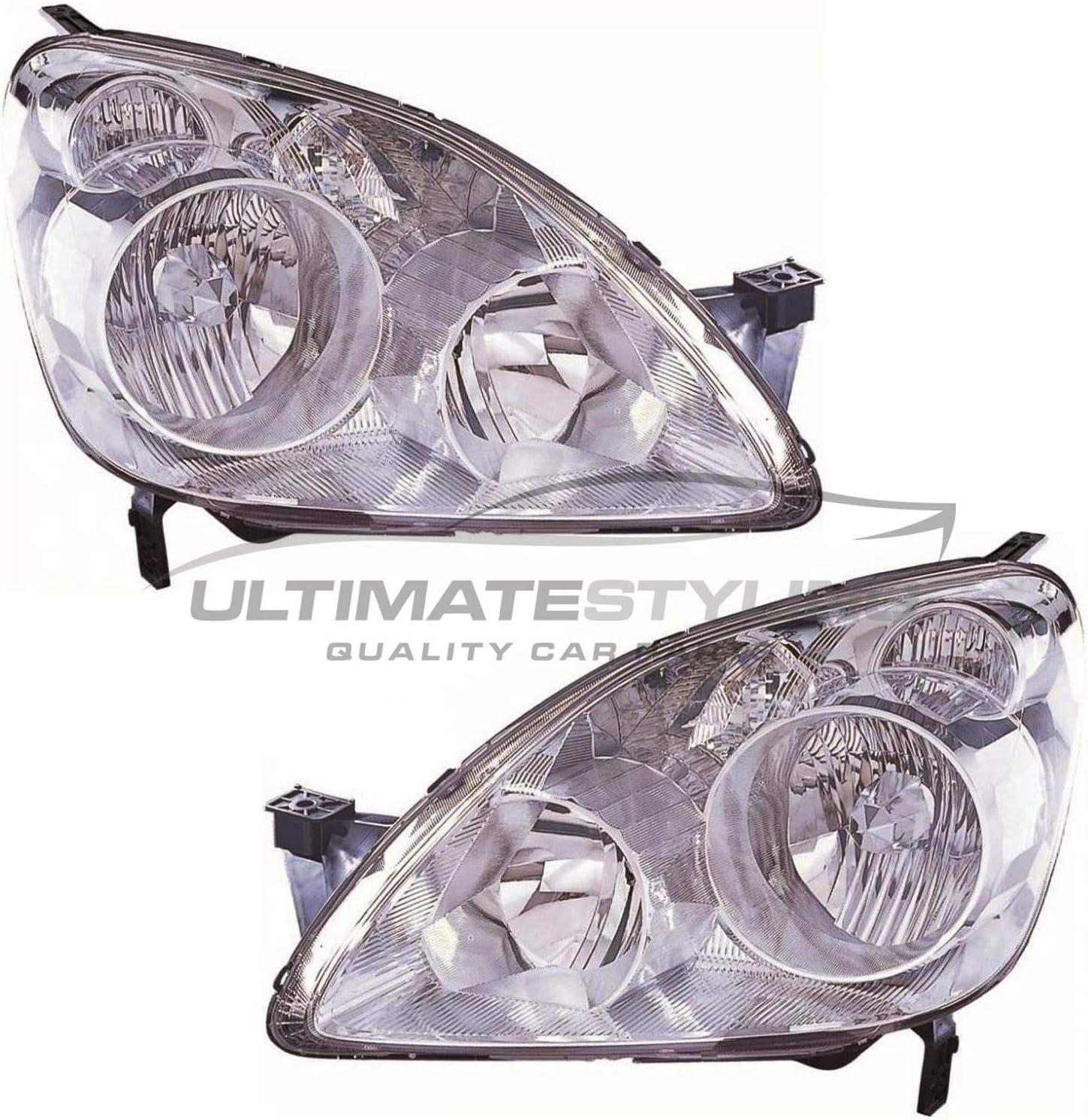 Honda CR-V 2002-2005 Chrome Front Headlight Headlamp O//S Drivers Right