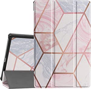 Case for Lenovo Tab M10 FHD Plus, Ratesell Lightweight Smart Trifold Stand Microfiber Lining Case Cover with Auto Wake/Sleep for Lenovo Tab M10 FHD Plus (2nd Gen) 10.3 TB-X606F / TB-X606X Geometric