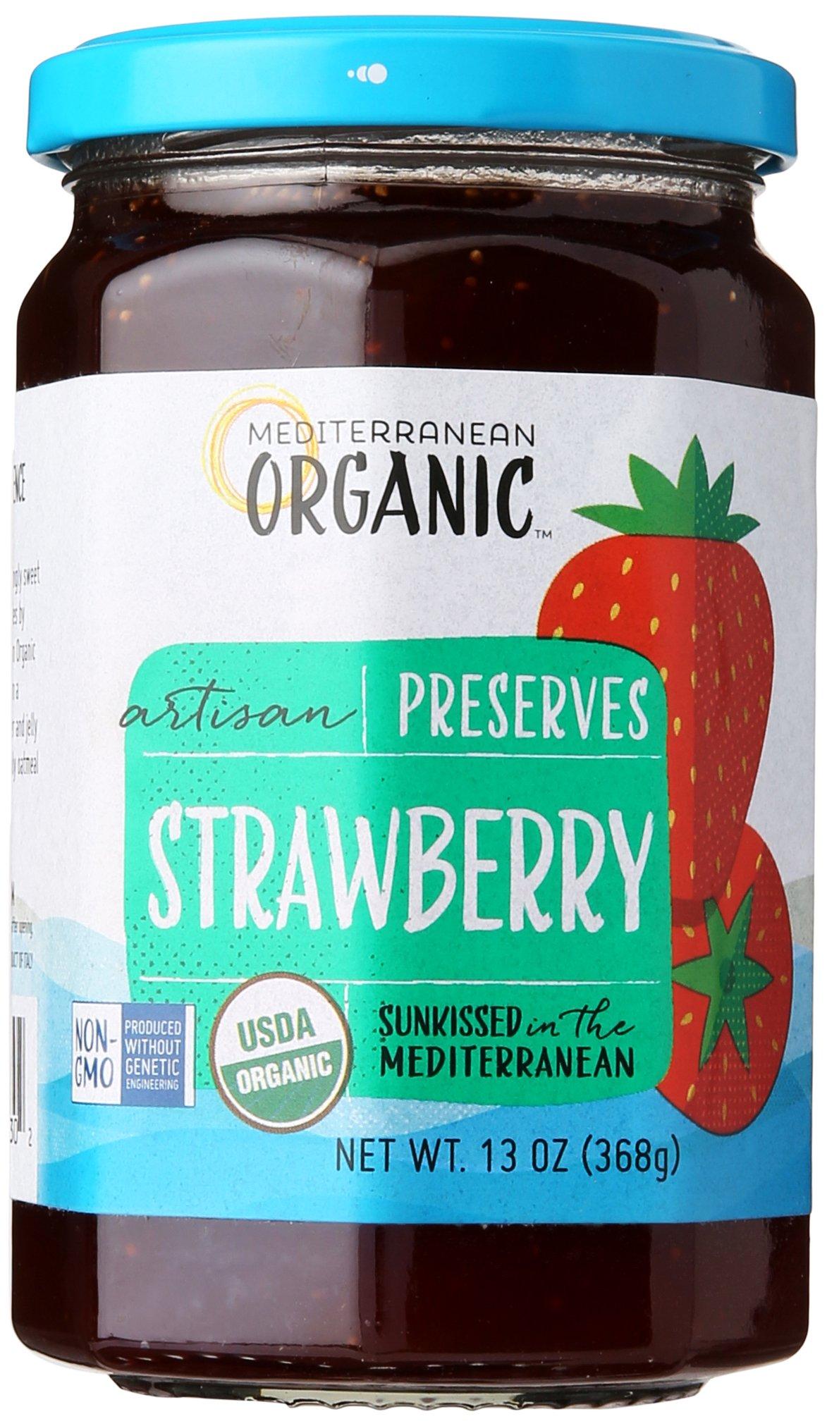 Mediterranean Organics Preserve Strawberry, 13 oz