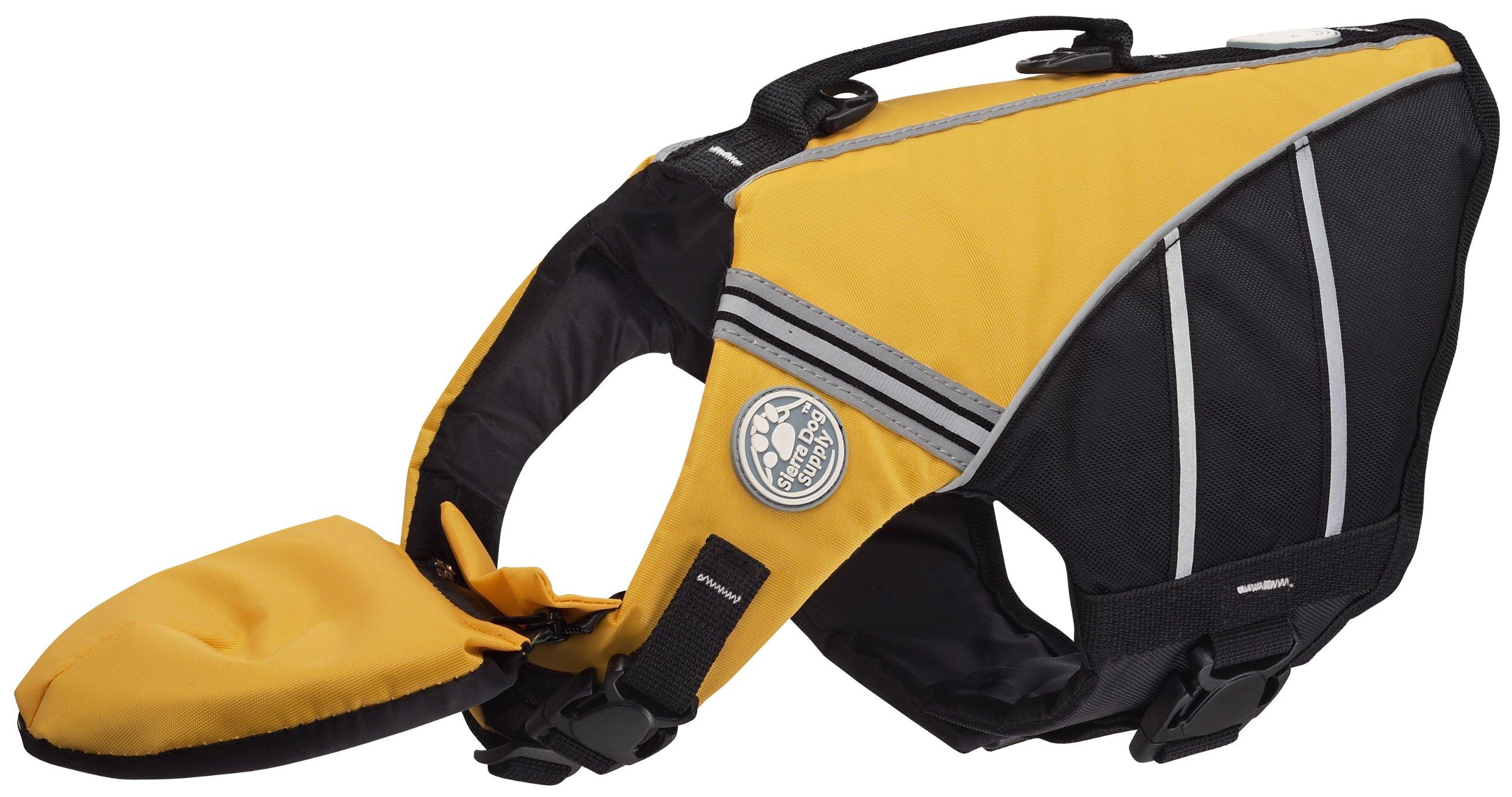 Doggles Dog Flotation Jacket, Large, Yellow