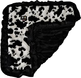 product image for BESSIE AND BARNIE Ultra Plush Spotted Pony/Black Puma Luxury Dog/Pet Blanket