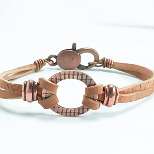 bezel antique bracelets bracelet circle inch collage photo setting blank copper adjustable