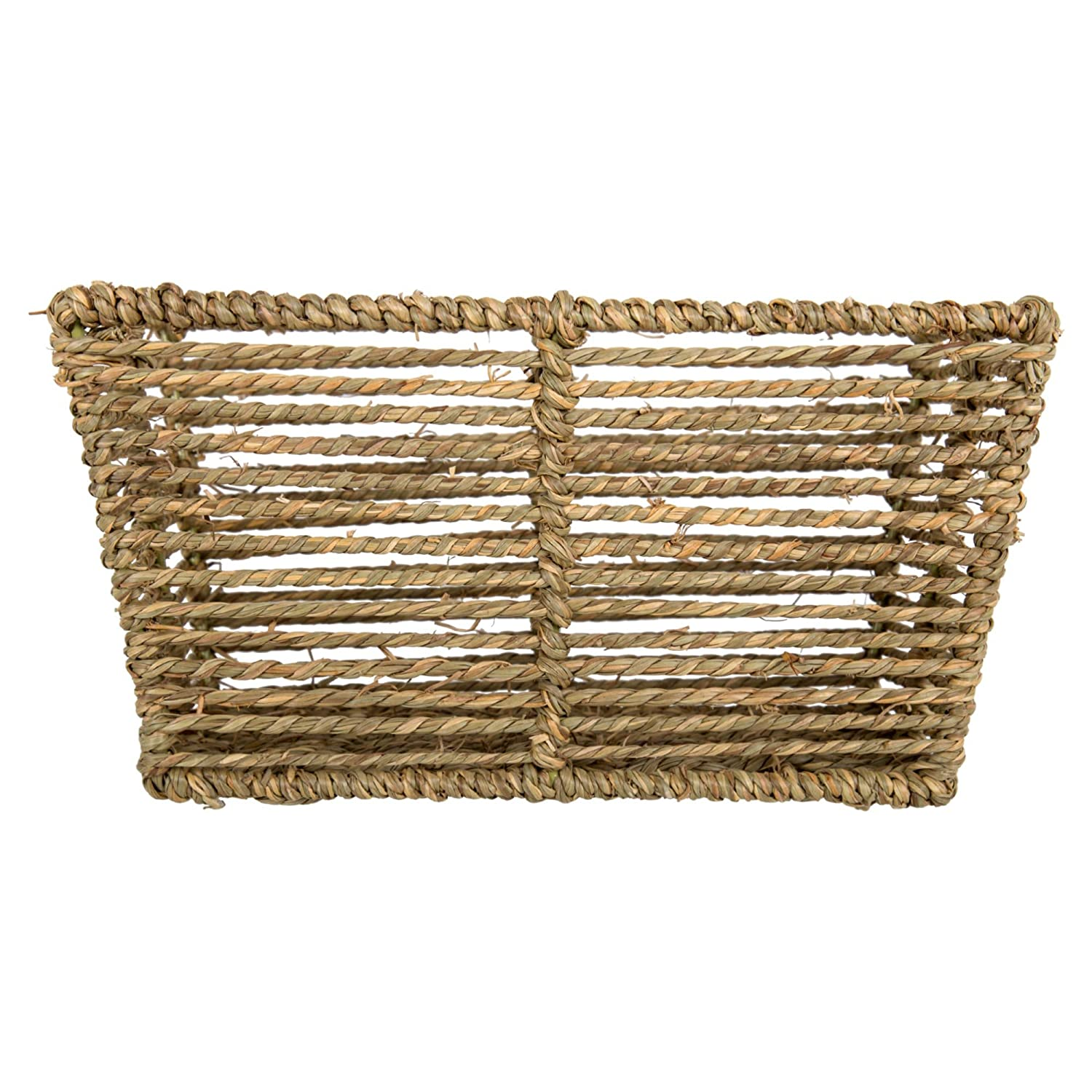 10.5 x 5.5 inches Truu Design Woven Seagrass Storage Basket Beige