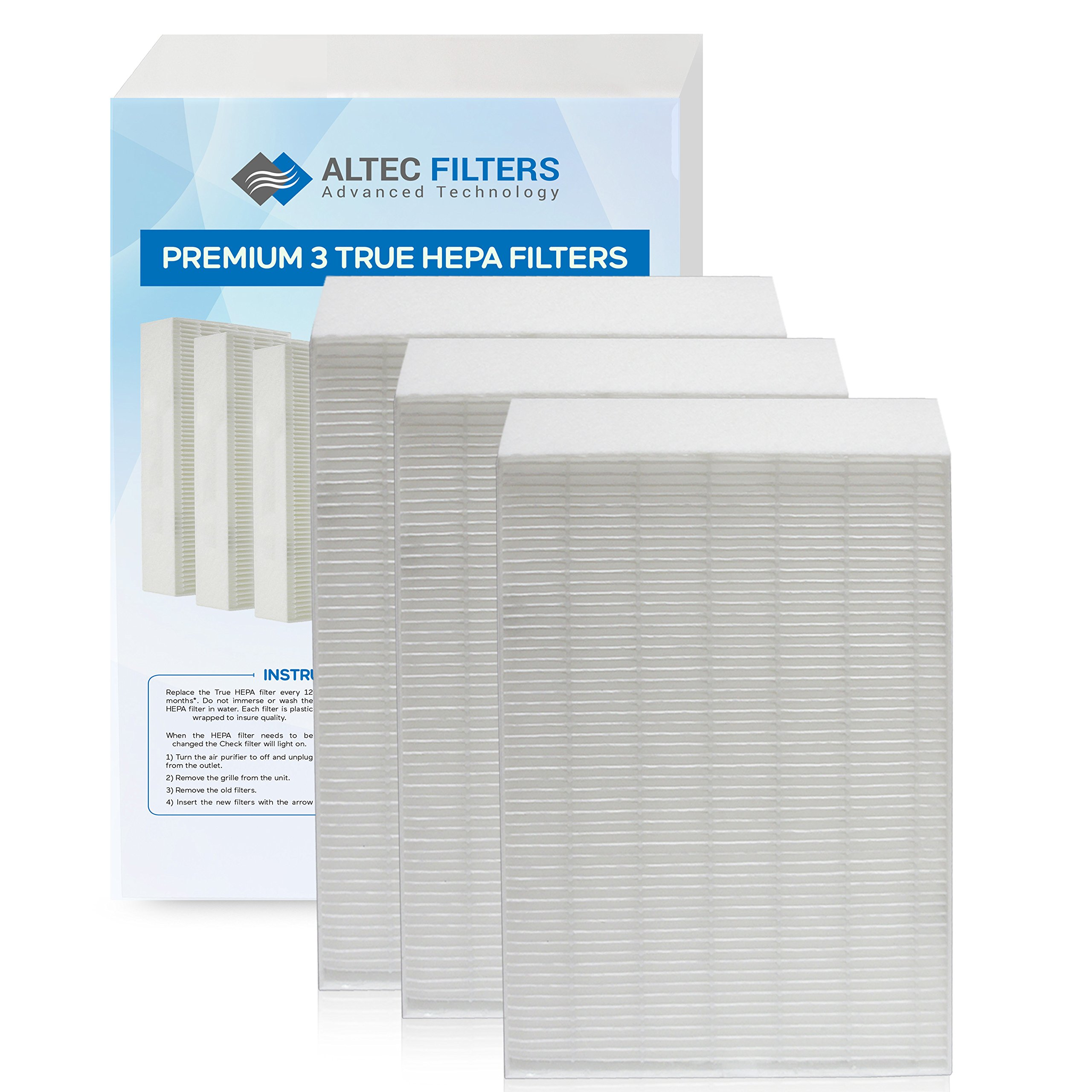 Altec Filters True HEPA Premium Quality Replacement Filters for Honeywell HPA300 Air Purifier, 3 Pack Fits Honeywell HPA090, HPA100, HPA200, HPA300 HW HRF-R3 Filter R (HRF-R3 3 Pack)