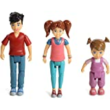 Sweet Li'l Family Set of 3 Action Figure Set: Girl, Boy and Toddler
