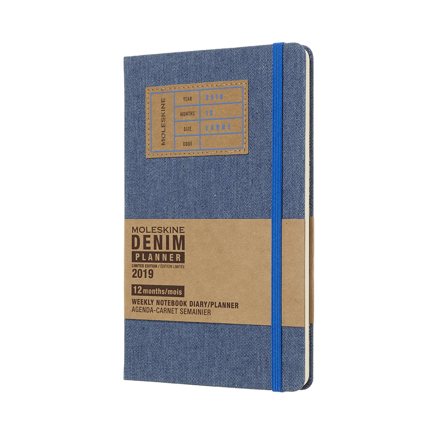 Moleskine Denim Hard Cover 2019 12 Month Weekly Planner, Large (5