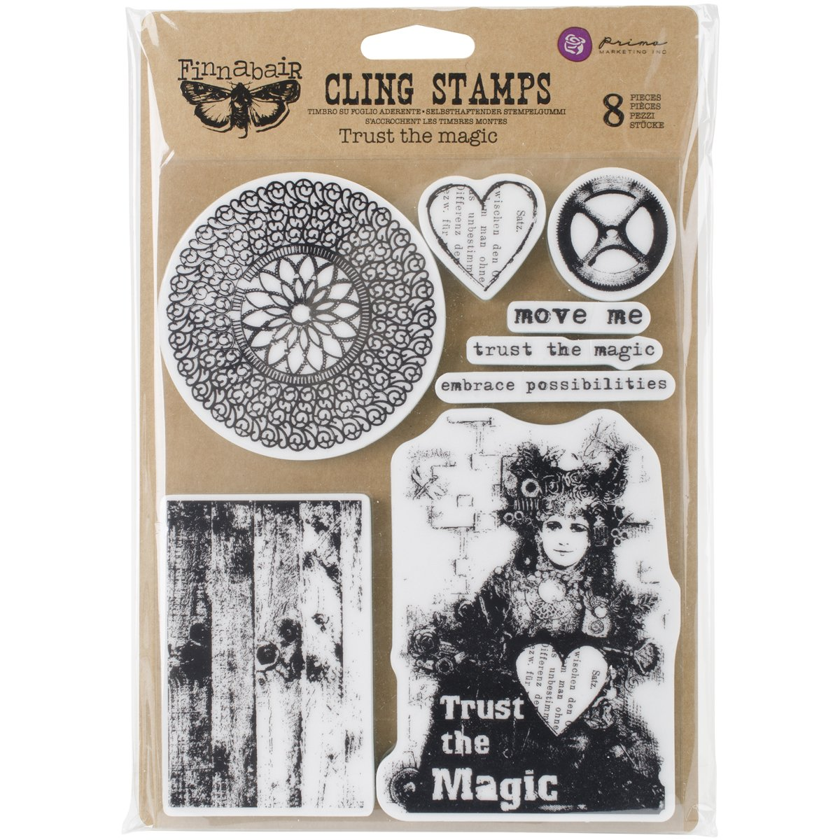 Prima Marketing Finnabair Cling Stamps 6''X7.5''-Trust The Magic by Prima Marketing