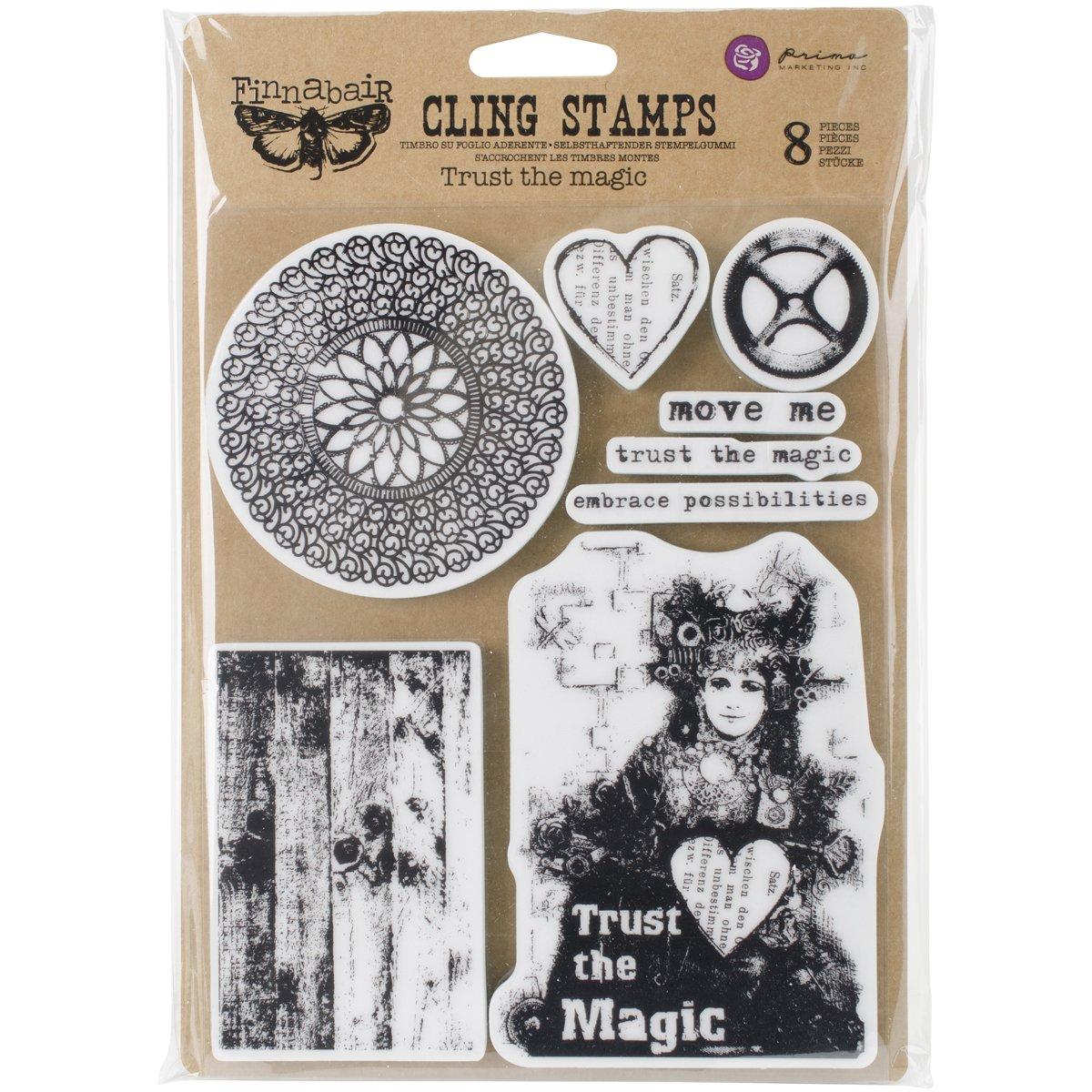 Prima Marketing Finnabair Cling Stamps 6''X7.5''-Trust The Magic