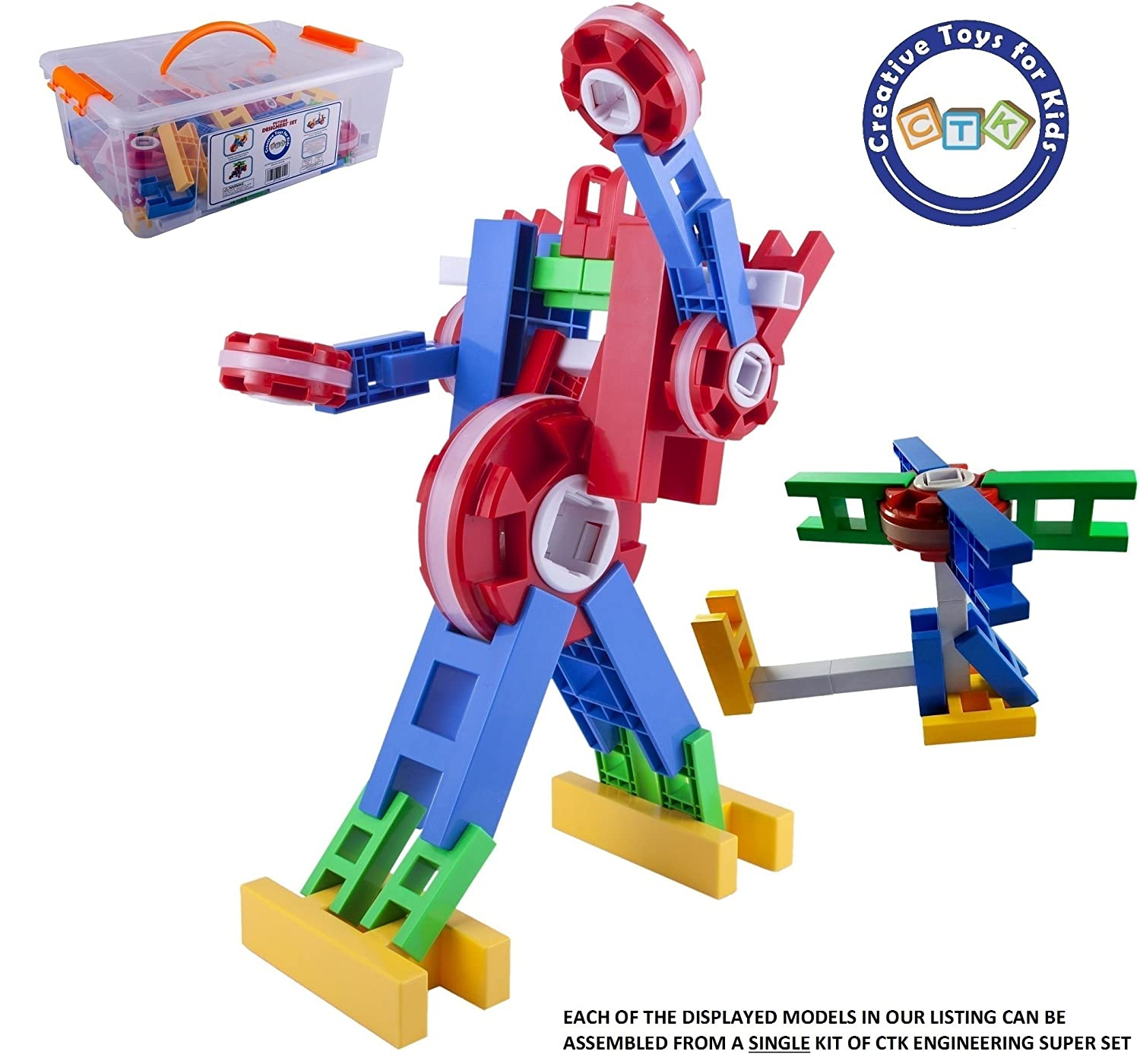 Amazon CTK Engineer Building Set – Fun STEM Toys for 3 4 5