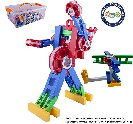 super engineer building set 160 pcs build big colorful models trucks racecars ferris wheel