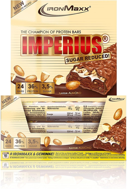 IronMaxx Imperius Sugar Proteína Reducida 24 Barras ...