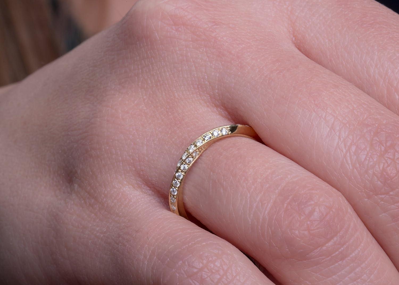 Mobius ring Diamond mobius ring Micropave mobius ring Wedding band ...