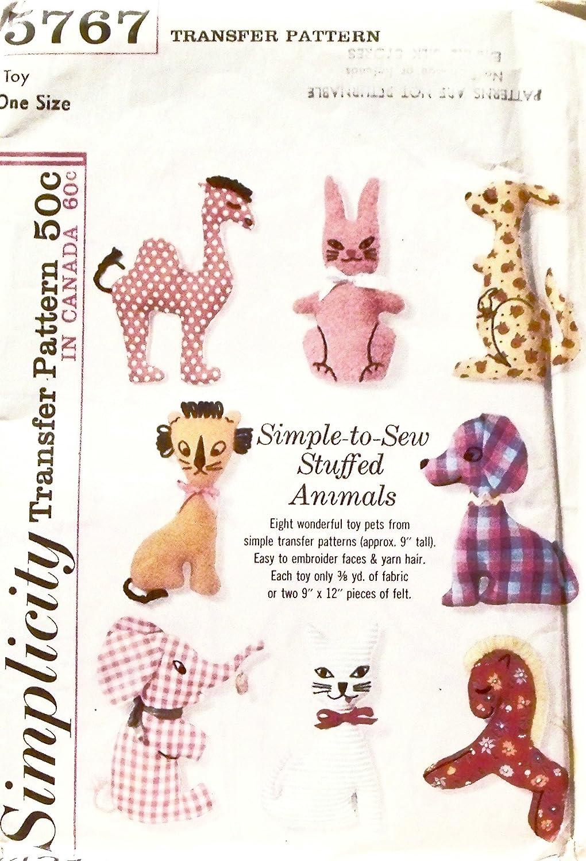 Amazon.com: Simple-to-Sew Stuffed Animals Pattern No 5767