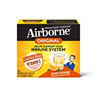 Vitamin C 1000mg - Airborne Zesty Orange Effervescent Tablets (30 count in a box...