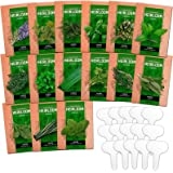 15 Culinary Herb Seed Vault - Heirloom and Non GMO - 4500 Plus Seeds for Planting for Indoor or Outdoor Herbs Garden…