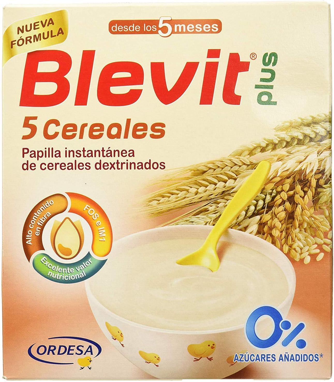 Blemil Plus Leche - 800 gr + Blevit Plus 5 Cereales para bebé - 2 de 300 gr. (Total 600 gr.): Amazon.es: Alimentación y bebidas