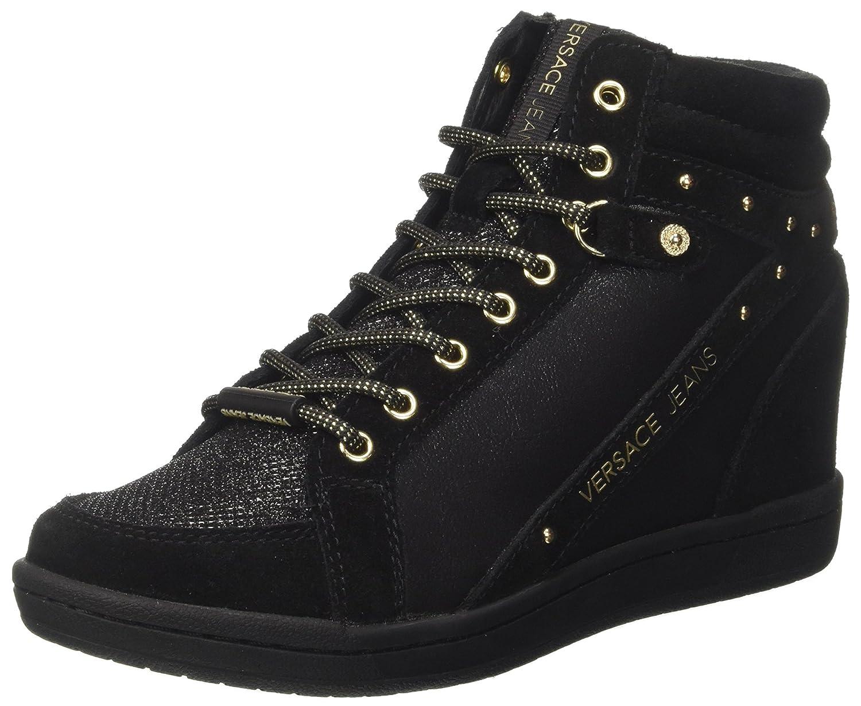 Versace Jeans Ee0vrbsc1_e70021, Zapatillas Altas para Mujer 35 EU Negro (Nero E899)