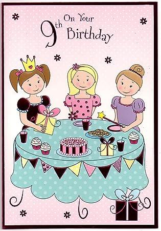 Birthday Card For Nine 9 Year Old Girl