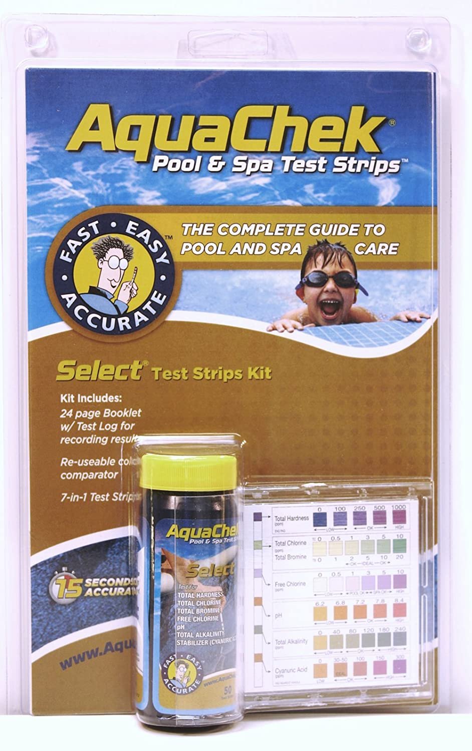 Amazon aquachek select 7 in 1 pool and spa test strips amazon aquachek select 7 in 1 pool and spa test strips complete kit swimming pool testing strips garden outdoor nvjuhfo Image collections