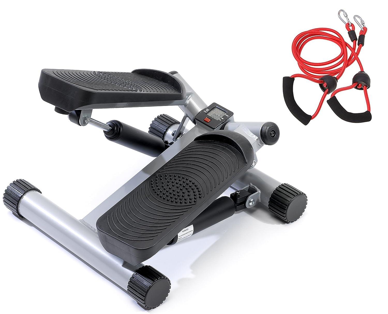 SportPlus Side-Stepper mit Zugbändern Trainingscomputer und Trainingscomputer Zugbändern • Benutzergewicht bis 100kg • hochwertige Hydraulikzylinder • Sicherheit geprüft • SP-MSP-001 1fcdce