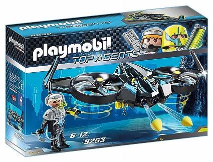 PLAYMOBIL Agentes Secretos Mega Drone, Color Negro (9253): Amazon ...