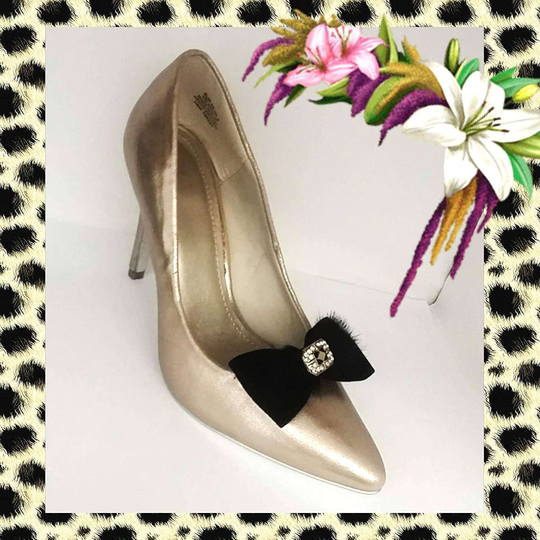 couleur beige La Loria 2 Clips pour chaussures Amovible Clips Bijoux Boucle