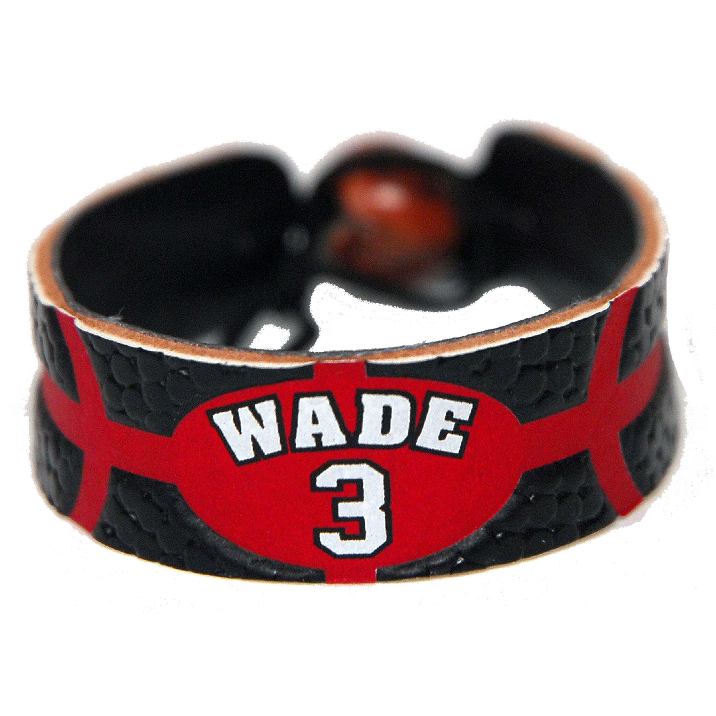 Dwayne Wade Team Color NBA Jersey Bracelet by GameWear