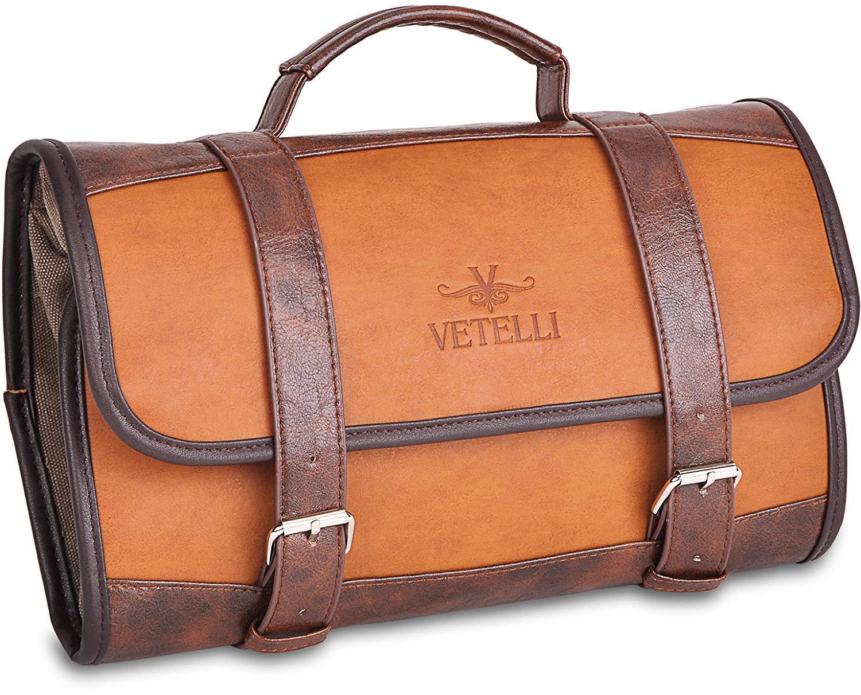 Vetelli Hanging Toiletry Bag for Men - Dopp Kit/Travel Accessories Bag/Great Gift by Vetelli
