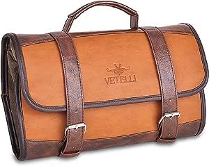 Vetelli Hanging Toiletry Bag for Men - Dopp Kit / Travel Accessories Bag / Great Gift