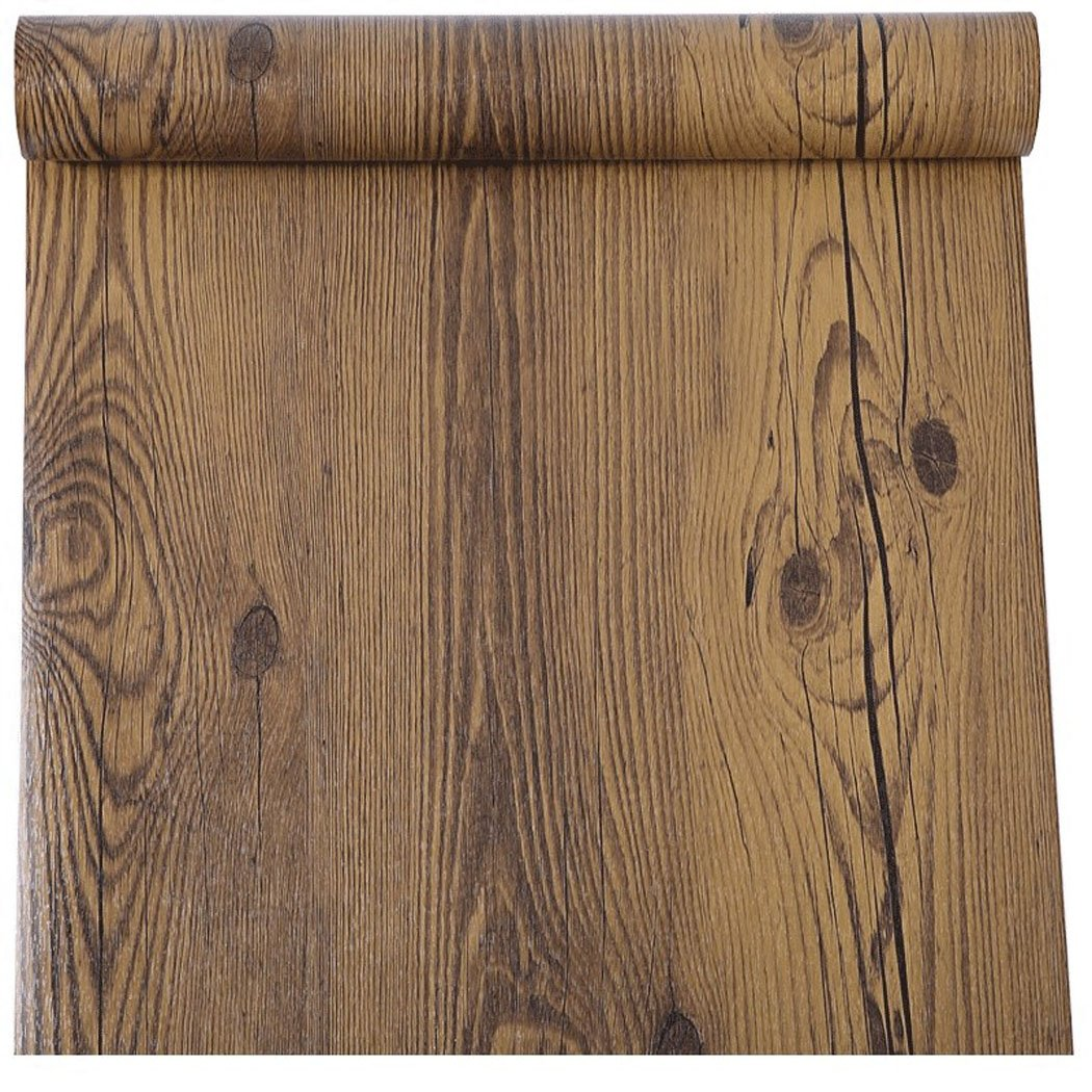 Rustic Dark Walnut Wood Grain Contact Paper Self Adhesive Vinyl Shelf Liner for Kitchen Cabinets Countertop Table Desk Furniture Decor 24 Inches by 16 Feet Glow4u GL001
