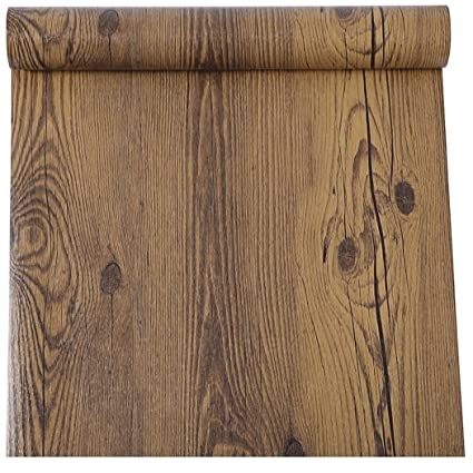 Delicieux Rustic Dark Walnut Wood Grain Contact Paper Self Adhesive Vinyl Shelf Liner  For Kitchen Cabinets Countertop