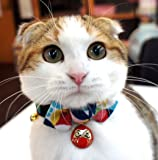 Necoichi Daruma Charm Bow Tie Cat Collar