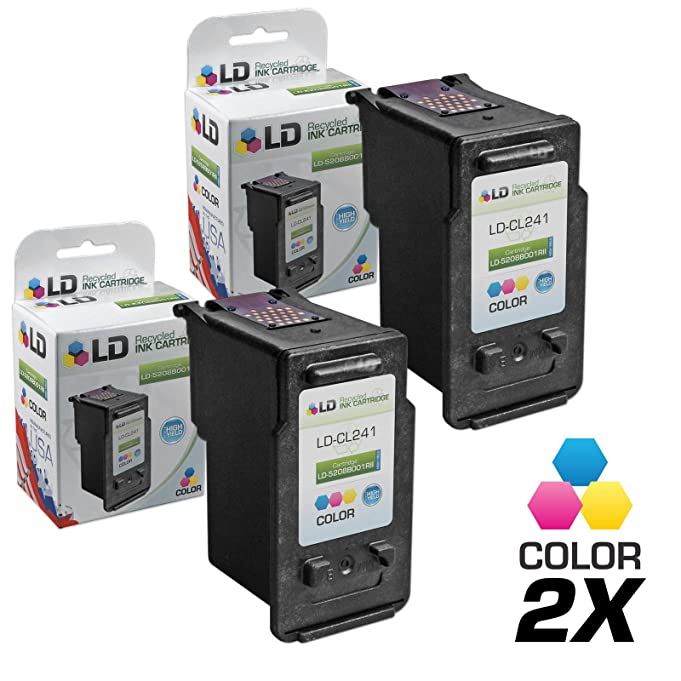 Amazon LD Remanufactured Canon CL 241 5209B001 241XL 5208B001 Set Of 2 High Yield Color Ink Cartridges For PIXMA MG2120 MG3122 MG3222