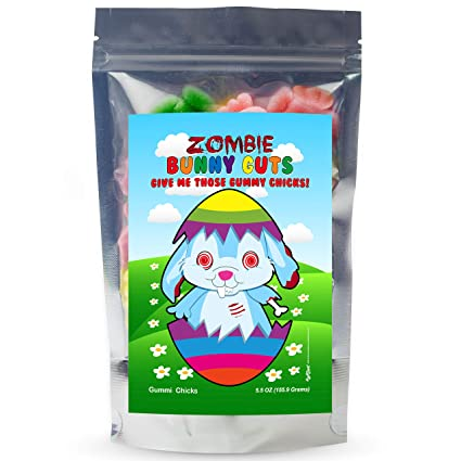 Zombie Bunny Guts Gummy Chicks – divertida cesta de Pascua ...