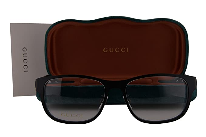 f31132869ba Image Unavailable. Image not available for. Colour  Gucci GG0013O Eyeglasses  55-16-145 Matte Black 001 GG 0013O