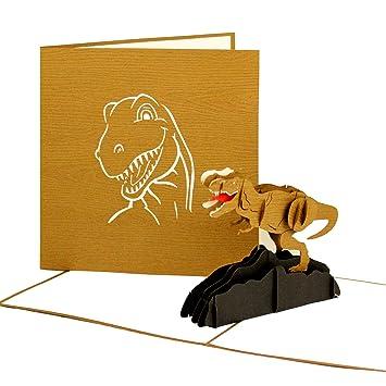 3D Pop Up Card Dinosaur Tyrannosaurus Rex T Birthday