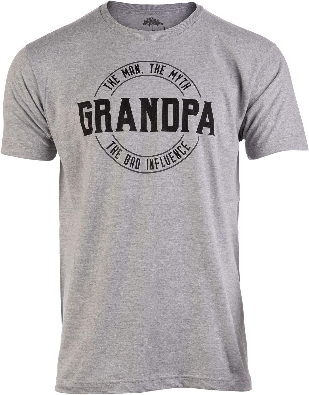 Grandpa: Man, Myth, Bad Influence | Funny Dad Joke Papa Grandfather Humor Shirt for Men T-Shirt