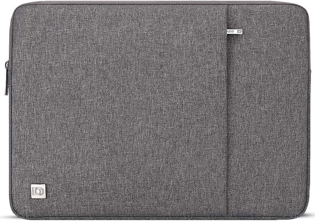 "DOMISO 13.3 inch Laptop Sleeve Case Waterproof Carrying Bag for 13"" MacBook Air 2014-2017/13.3"" ThinkPad L390 Yoga X380 Yoga/13.9"" Lenovo Yoga C930 Glass/HP EliteBook 830 G5 840 G5 x360 G2, Grey"