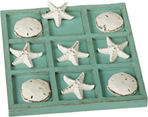 """Midwest CBK Decorative Sea Shell Tic-Tac-Toe Game Set with 9"""" Board"""