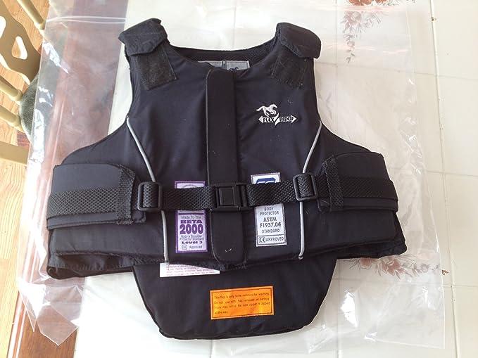 S Negro Zandon/à Soft Active Vest Pro X6 Equitation Protecciones para Caballeros sin g/énero