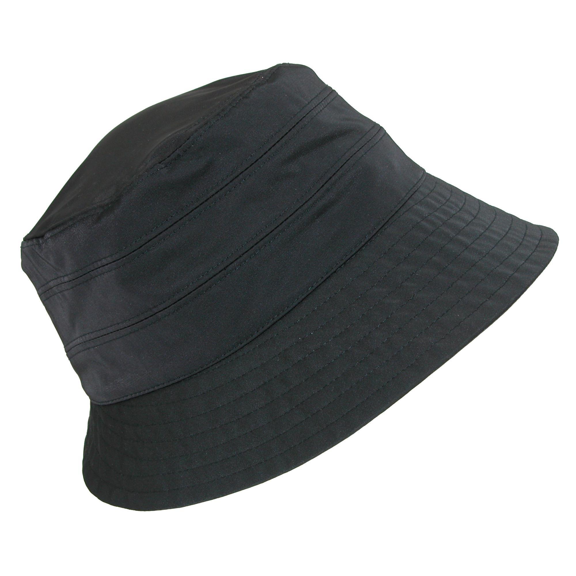 Dorfman Pacific Women's Adjustable Nylon Water Repellent Lined Rain Hat, Black