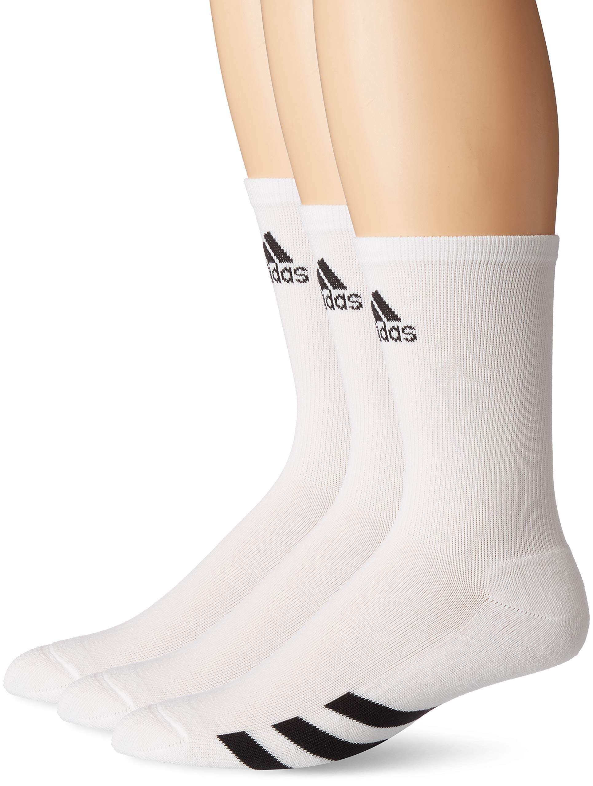 adidas Golf Men's 3-Pack Crew Sock, White, 11-14 by adidas