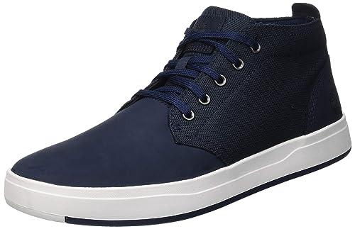 ce1e4c3bcd1 Timberland Mens Davis Square Mixed Media Chukka Sneaker: Amazon.in ...