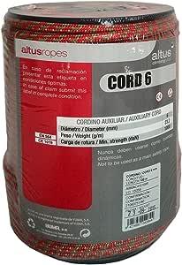 ALTUS 9200302757 Cordino Auxiliar, Unisex, Rojo, 100 Metros ...